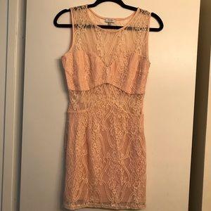 Tobi Pink Lace Mini Dress size medium